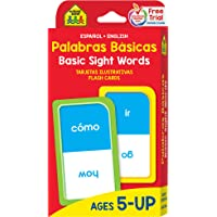 School Zone - Bilingual Beginning Basic Sight Words Flash Cards - Ages 5+, Kindergarten to 1st Grade, ESL, Language…