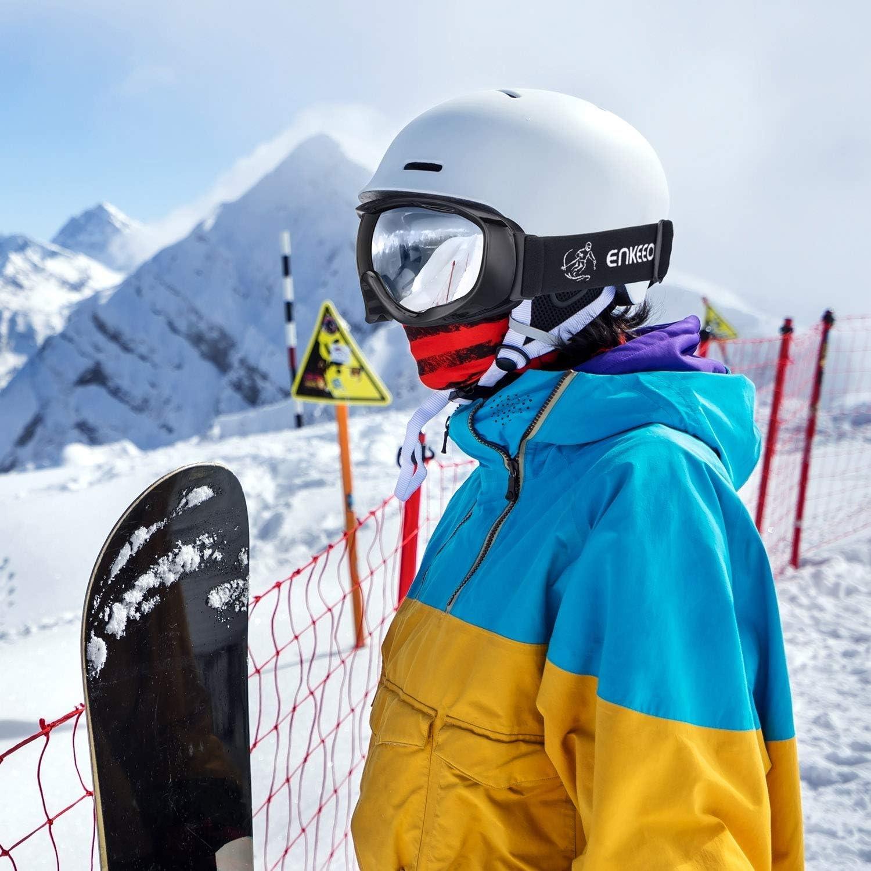 ENKEEO Gafas de Esqu/í Lente Doble Anti-Vaho 100/% UV400 Protecci/ón