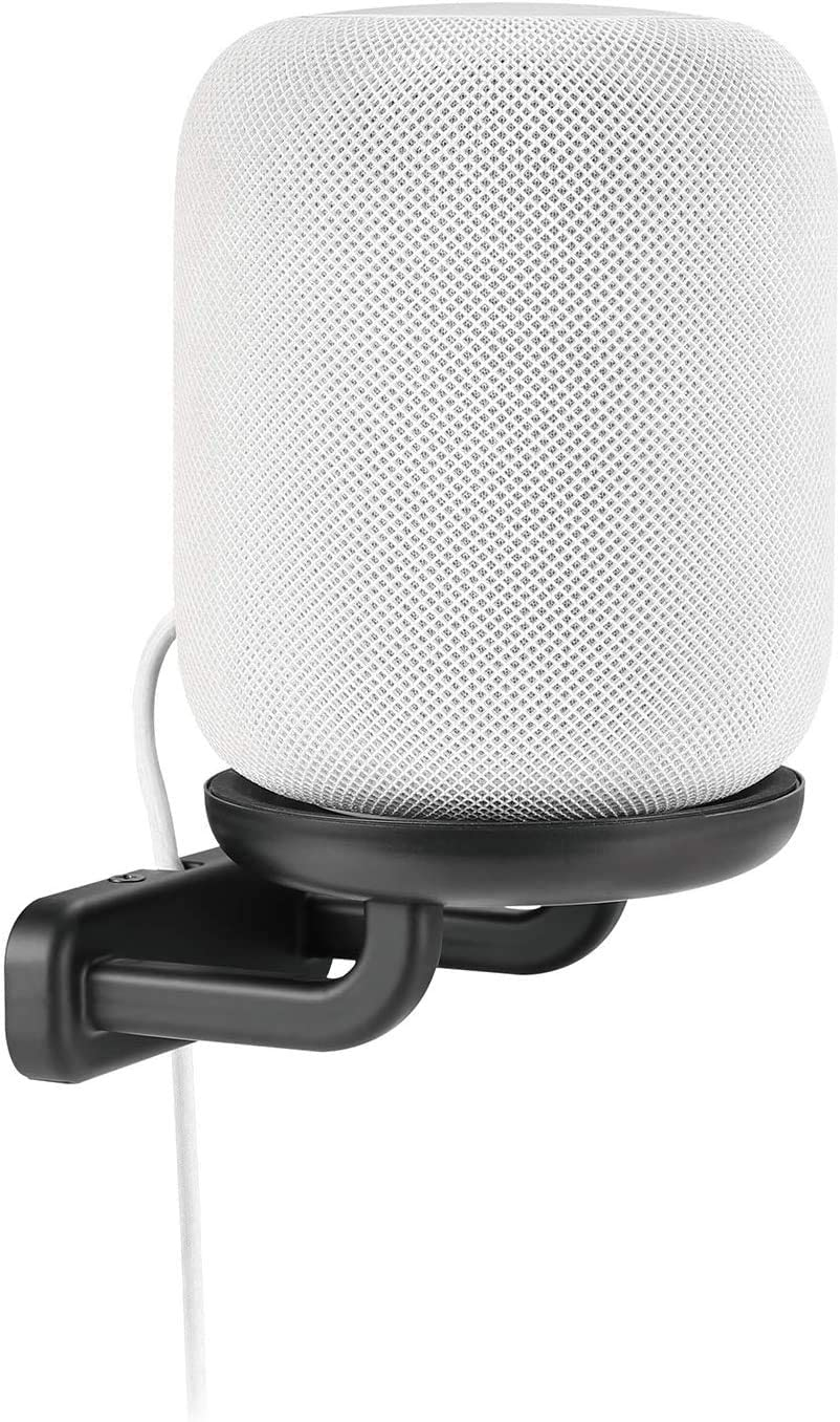 Mount Plus MP-SB60 Speaker Wall Mount - with Silicone Pad - Compatible with Apple HomePod - Black
