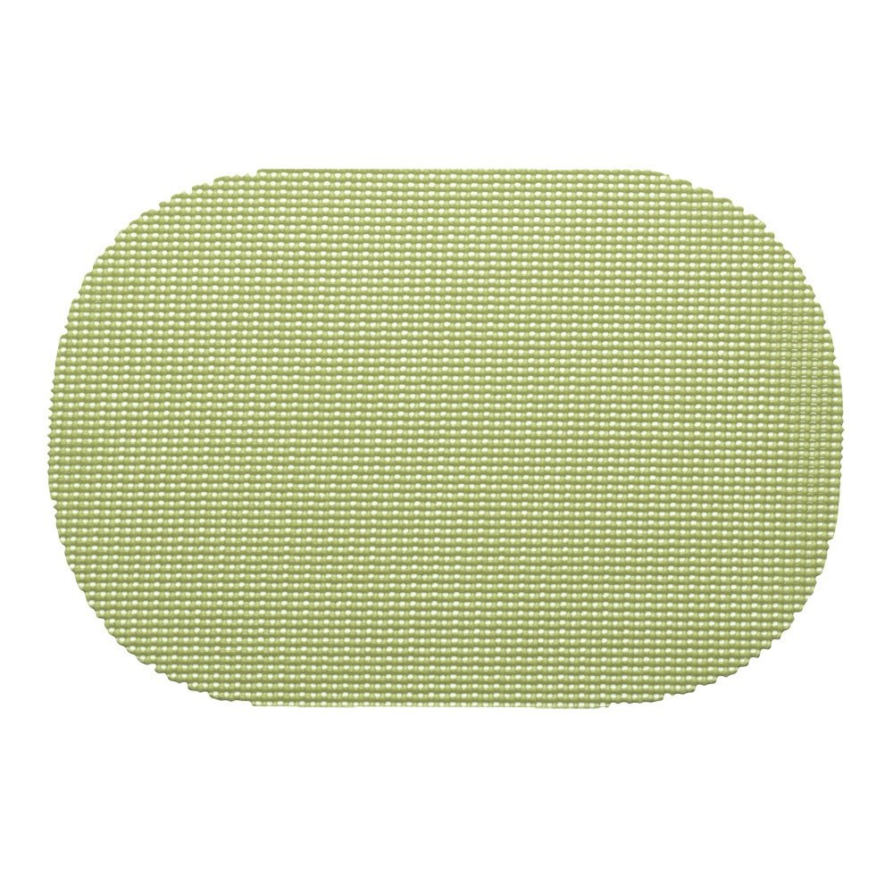 12 Piece Mist Green Placemats,(Set of 12), Machine Washable, Solid Pattern, Oval Shape, Contemporary And Traditional Style, Perfect For Everyday Entertaining, Season Or Holiday Lace Material