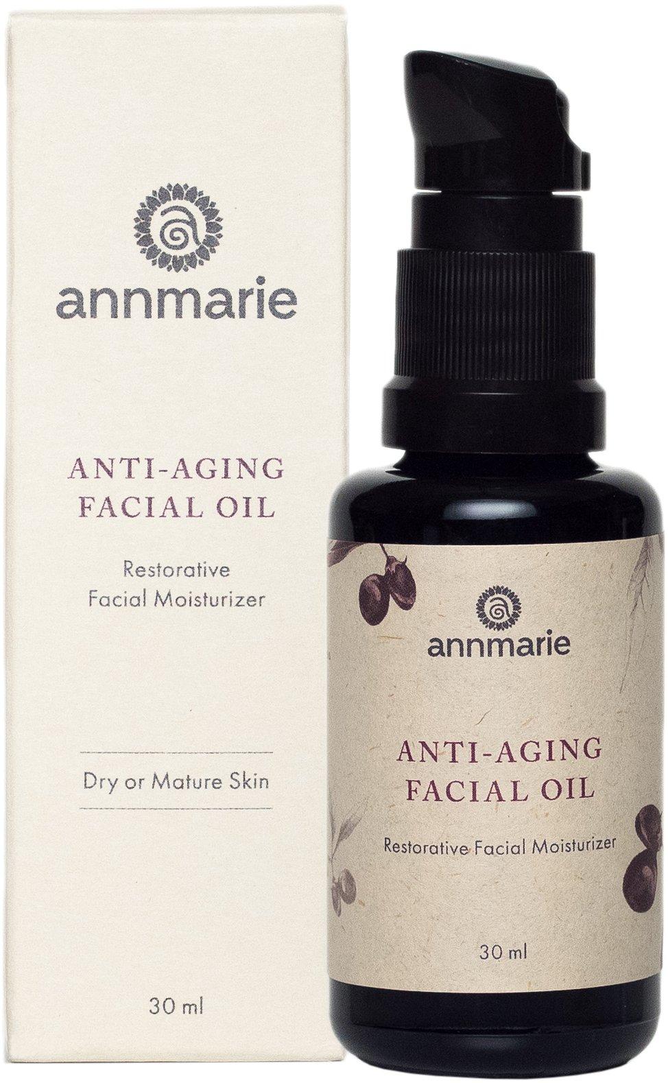 Annmarie Skin Care Anti-Aging Facial Oil - Moisturizing Face Oil For Dry or Mature Skin with Jojoba Oil, Goji Berries + Chia Seed Oil (30ml / 1 oz)