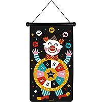 Janod J02074 Dartset, magnetisch, motief: circus – voor- en achterkant – educatief spel veelzijdigheid en concentratie…