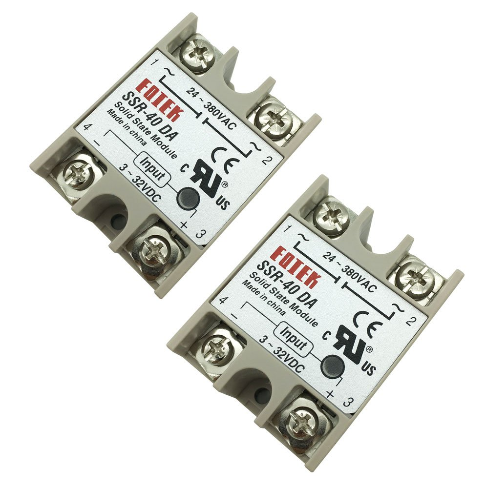 Amazon.com: 2PCS SSR-25DA Solid State Relay Single Phase Semi-Conductor  Relay Input 3-32V DC Output 24-380V AC (SSR-25 DA): Home Audio & Theater