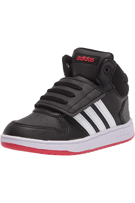 Amazon.com   adidas Baby Hoops 2.0 Mid Sneaker, Black/Solar Red ...