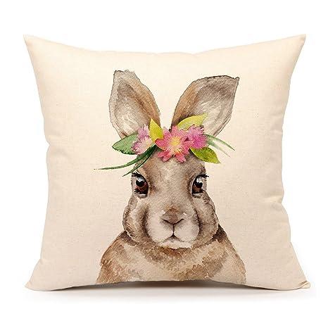 Amazon.com: Conejo de Pascua de manta funda de almohada ...