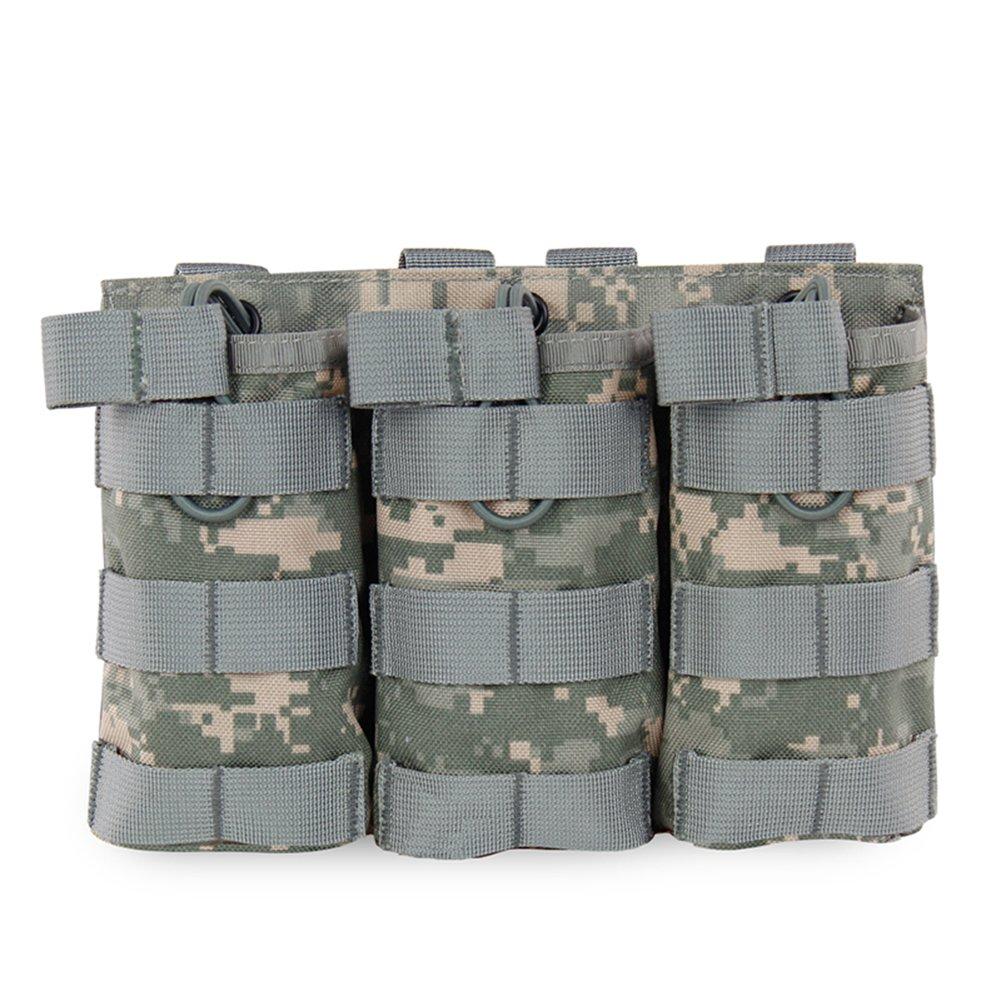 Wongfon Grands sacs Mags Pouch MOLLE Mag Storage Fusil ouvert Porte-revues AR AK Mag Pouch M4 pour Airsoft 1000D Nylon