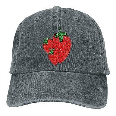 Dama Home Tres Fresas Rojas Impresas Gorras de béisbol Sombreros ...