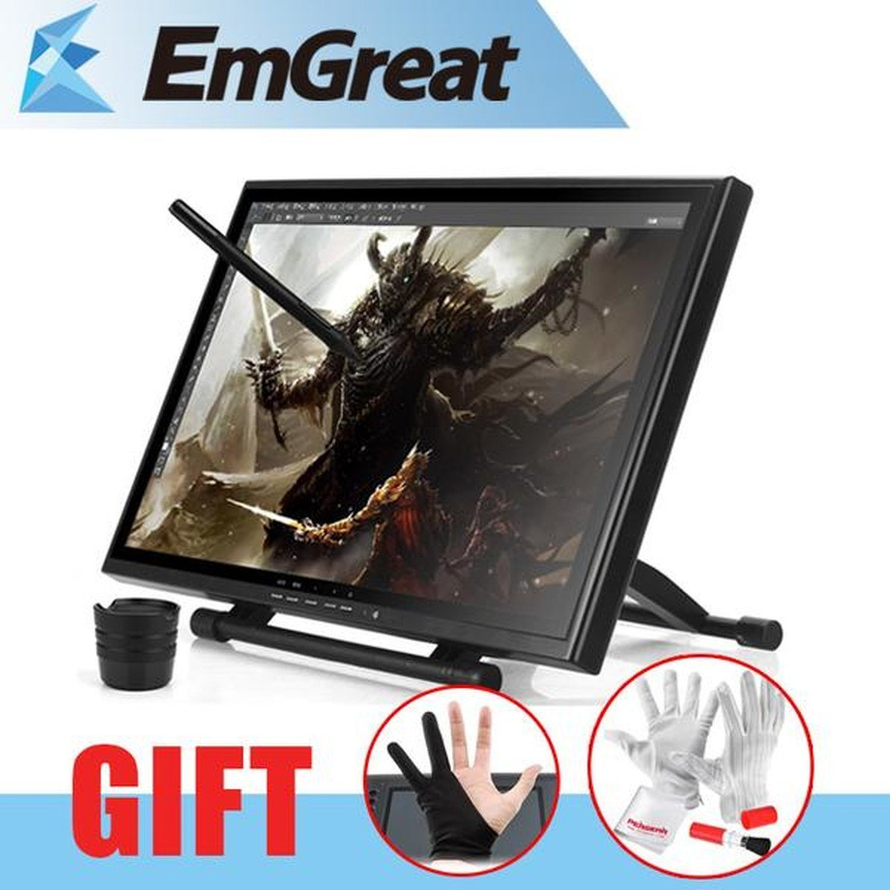 UGEE UG-1910B Professional 19'' 5MS LCD Art Graphic Tablet Drawing Digitalizer Board + Glove Gift (UGEE UG-1910B Professional 19'' 5MS LCD Art Graphic Tablet Drawing Digitalizer Board + Glove Gift)