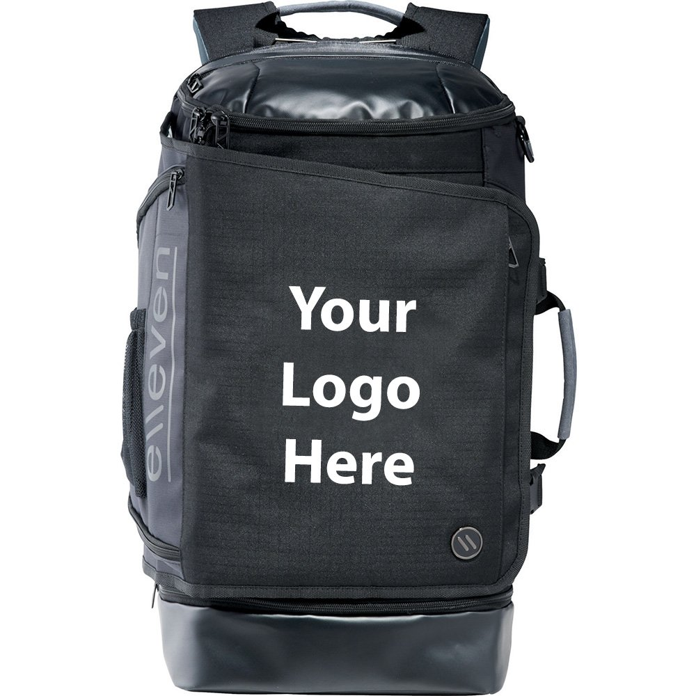 Elleven Pack Flat 17'' Computer Backpack - 6 Quantity - $89.70 Each - PROMOTIONAL PRODUCT / BULK / BRANDED with YOUR LOGO / CUSTOMIZED