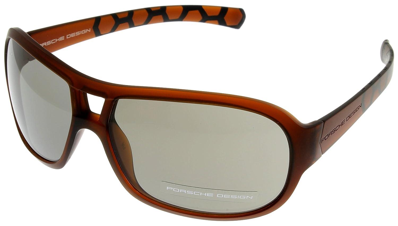 Porsche Design Sunglasses Brown Unisex P8537 D Aviator