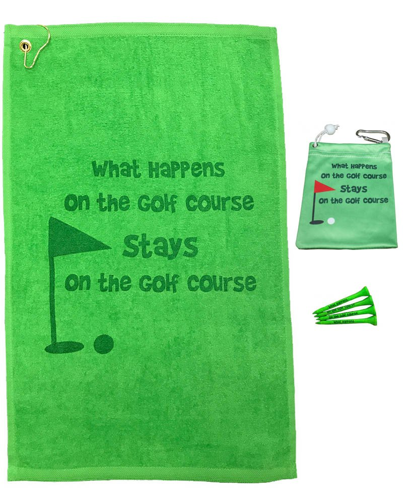 Giggle Golf What Happens Towel & Tee Bag Combo