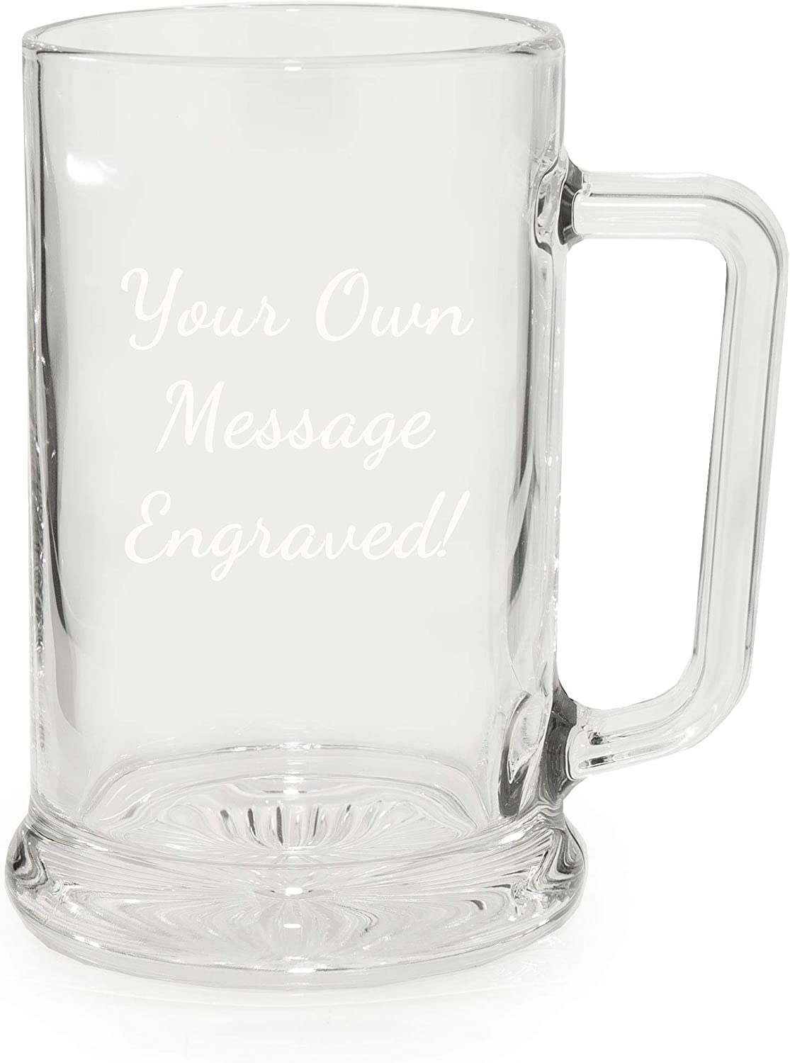 Personalised Glass Usher Tankard Engraved Gift with Blue Silk Lined Gift Box