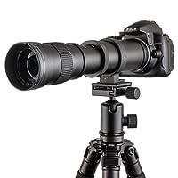 Fotga 420-800mm f/8.3-16 Super Téléobjectif Zoom Objectif avec T-Nikon Adaptateur T2 pour Nikon D7200 D7100 D7000 D5500 D5300 D5200 D3300 D3200 D3100 D3000 D850 D810 D750 D610 D500 D90 D80 D4S et plus DSLR / appareil photo reflex