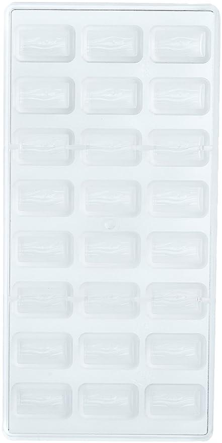 Moldes, Silicona Log policarbonato moldes de Chocolate para Bombones Profesionales, Transparente, 5 g