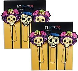 By Mexico Separadores de Libro modelo Catrinas juego de 2