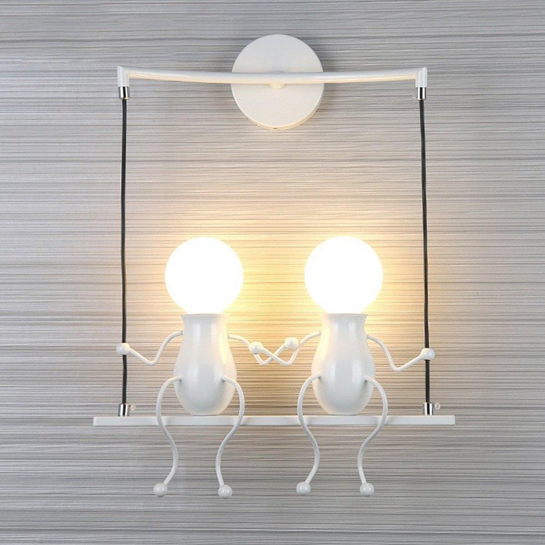 Lampe murale moderne mode applique murale créatif simplicité design appliques pour chambre denfant couloir décoratives eclairage lampe douille e272 max
