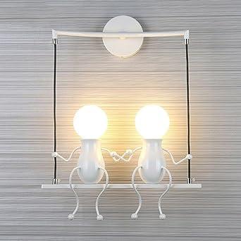 Lampe Murale Moderne Mode Applique Murale Créatif Simplicité Design  Appliques pour Chambre d\'enfant Couloir Décoratives Eclairage Lampe Douille  E27*2 ...