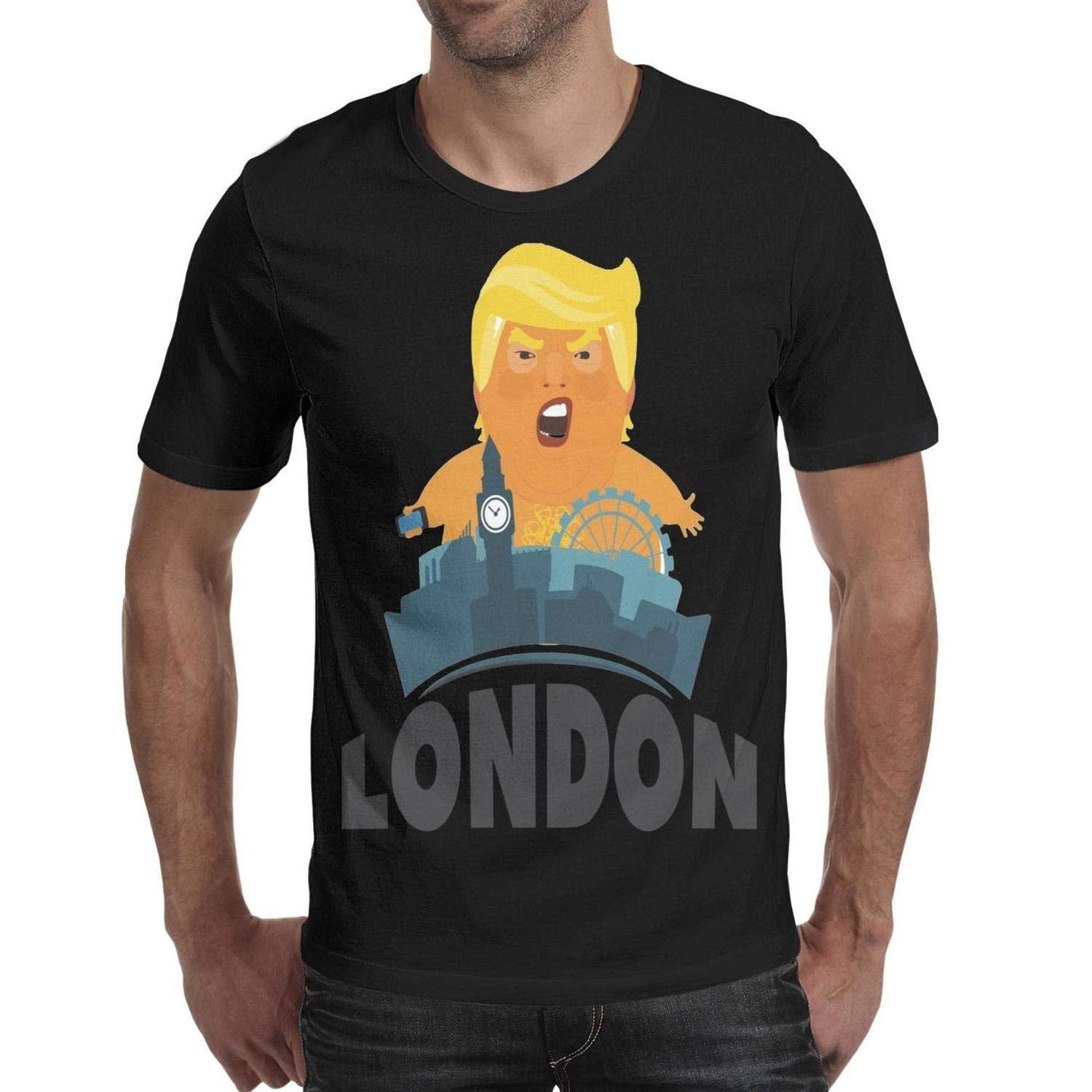 Young Men Trump-Baby-Blimp Cotton Short Sleeved T-Shirts