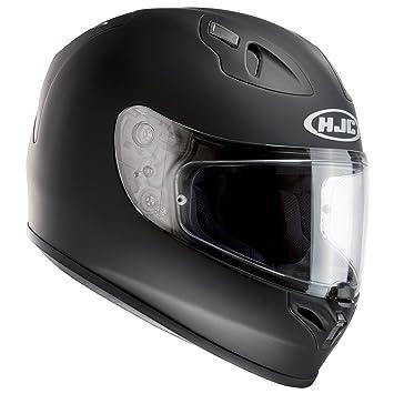 HJC FG-17 Plain casco de moto, negro mate