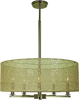 product image for Framburg 1219 PN 5-Light Chloe Dining Chandelier, Polished Nickel