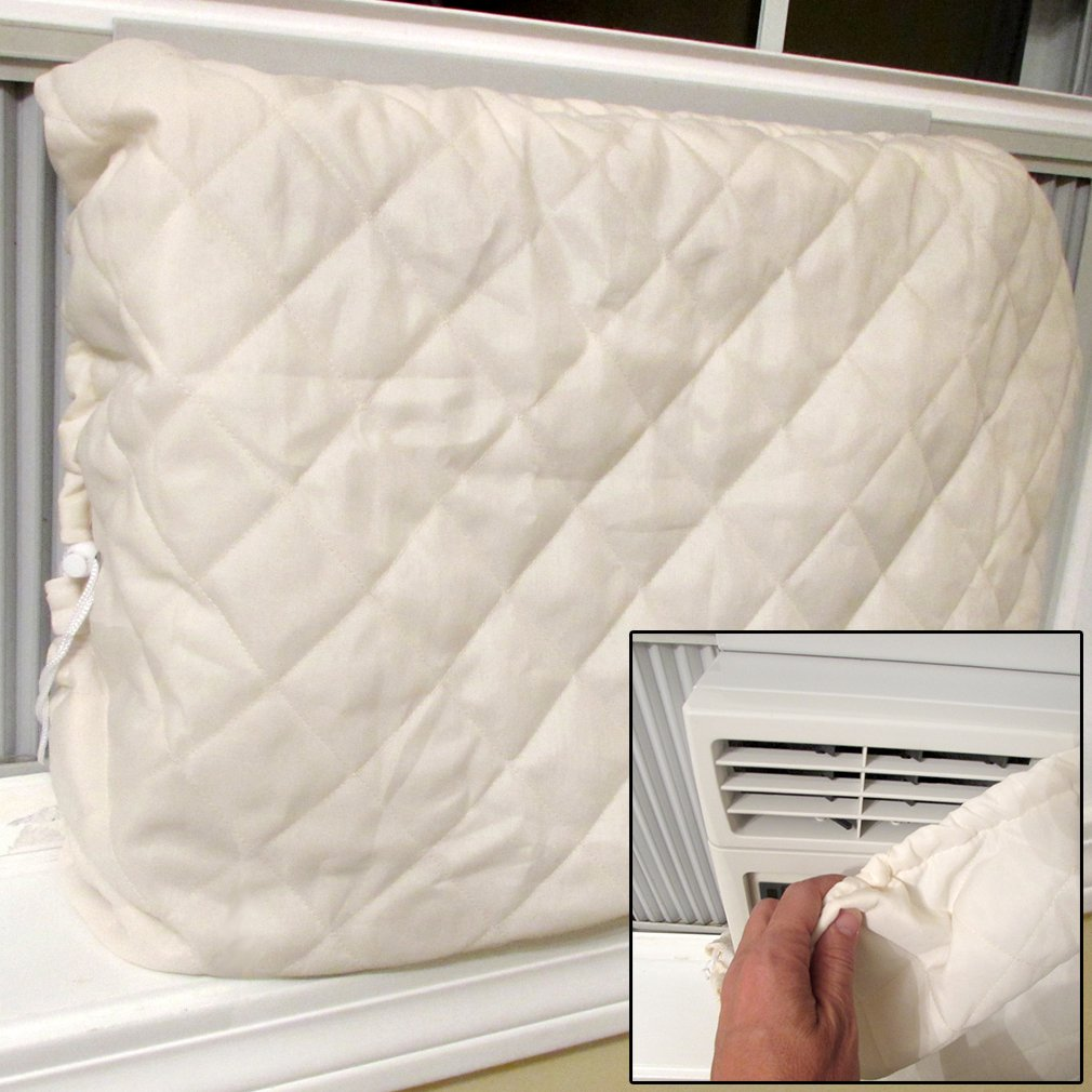 Evelots Window Air Conditioner Cover-Indoor-Quilted-Heat Stays in-Cold Air Out Green Mountain Imports 5255