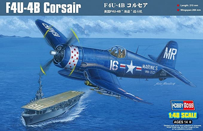 Plastic Model Building Set # 80396 Hobby Boss 1//48 Scale Corsair MK