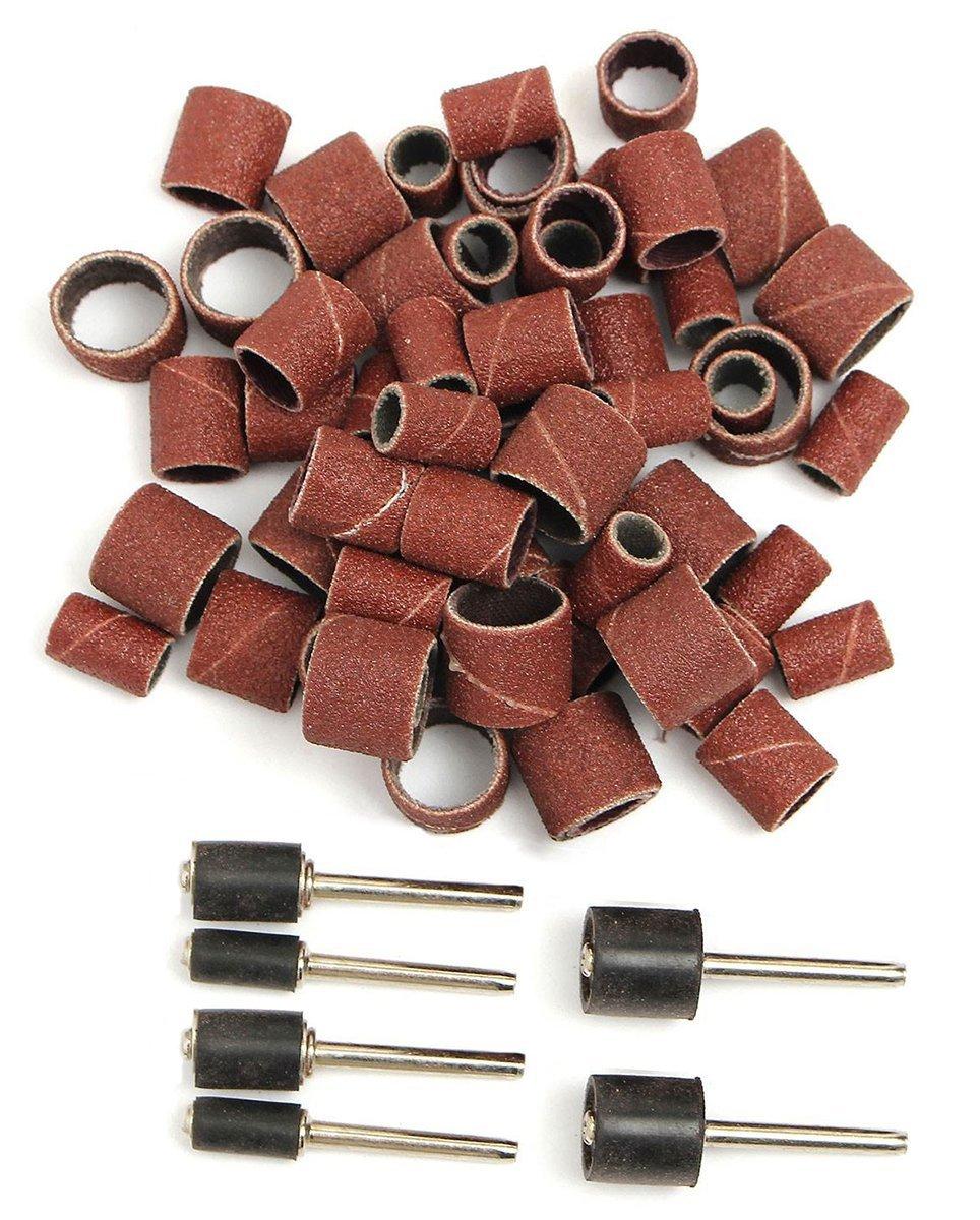 Bistras Jumbo 51pc Drum Sanding Kit - Fits Dremel - Includes Rubber Drum Mandrels - 1/2, 3/8 & 1/4''