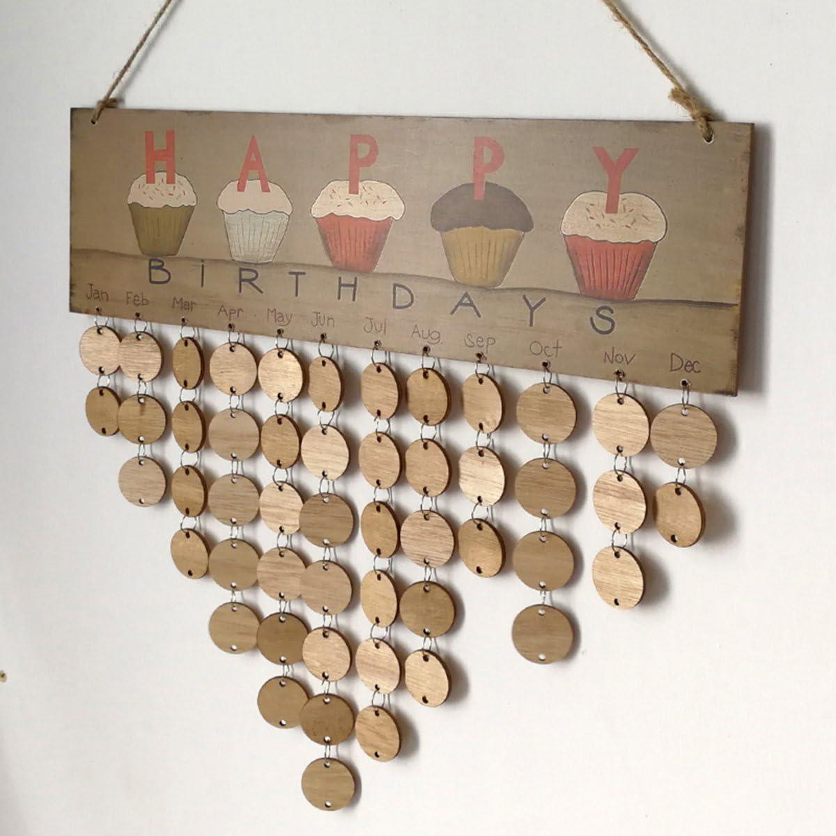 ROSENICE Calendrier danniversaire /à Collectionner pour la d/écoration de la Maison