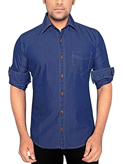 a1fa74f4d79 Sunshiny Men s Denim Shirts (Blue