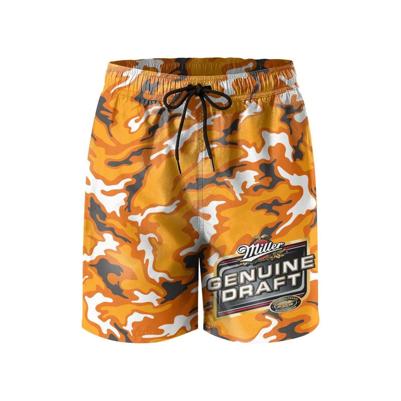 Summer Quick Dry Swimming Pants jdadaw Mens Beach Shorts Busch-Latte-Beer-Logo