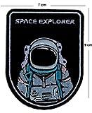 TENNER.LONDON Astronaut Space Explorers Parche bordado para planchar o coser en Nasa Space Agencia, diseño bordado de exploradores de espacio