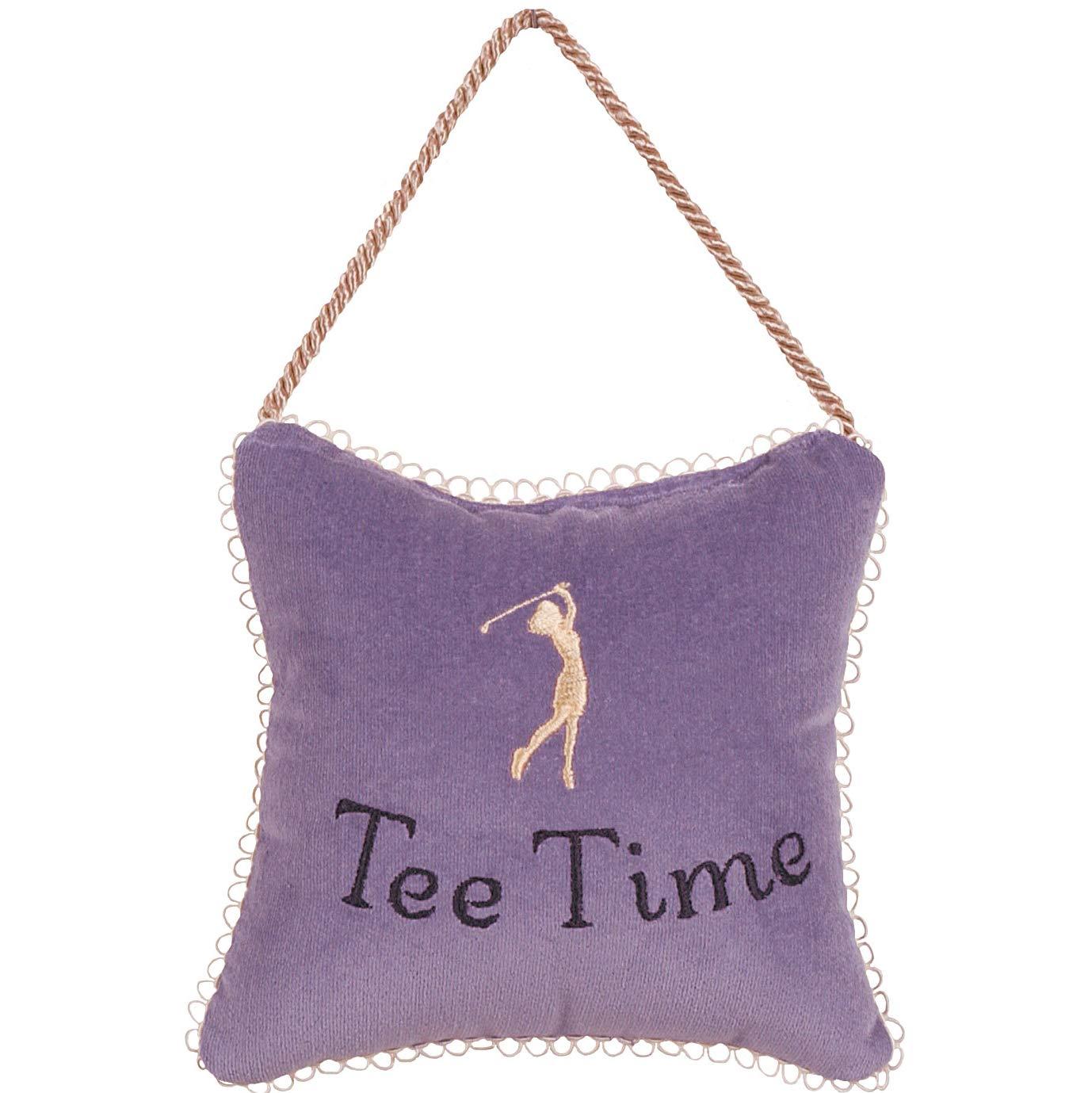 Gift for Golfer Tee Time Door Hanger, 6x6, Lavender