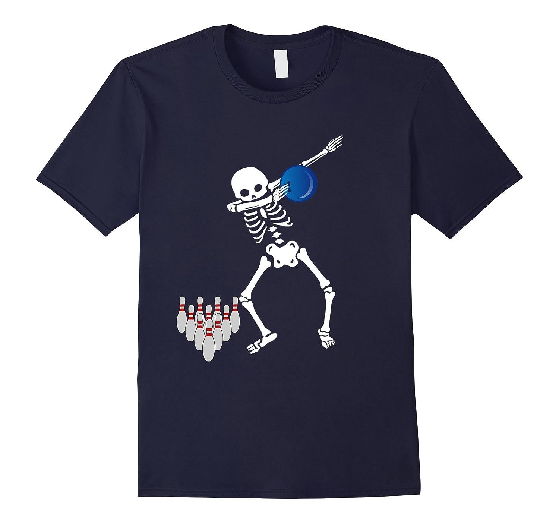 Cool Dabbing Skeleton Bowling T Shirt Dab Hip Hop Bowler Tee-T-Shirt