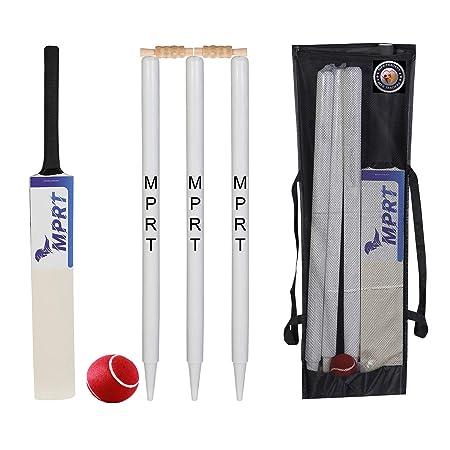 "ND Junior Match Quality Cricket 6x Stumps 4x Bails Set Size 27/"" With Bag"