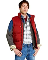Largemouth Men's Marty McFly Puffer Vest Red