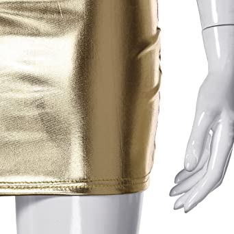 Amlaiworld damska gorąca sukienka bez rękawÓw Clubwear Stripperin sukienka - m: Sport & Freizeit