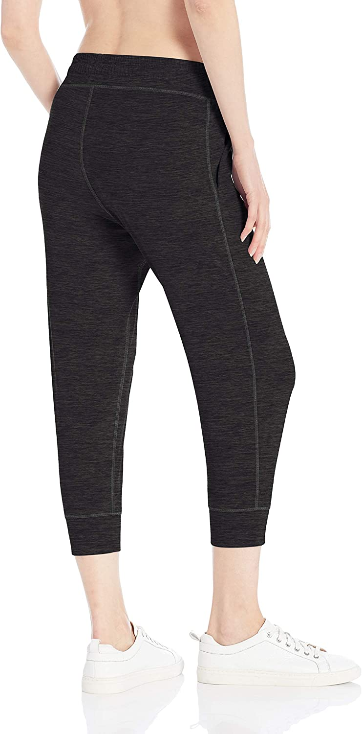 Essentials Brushed Tech Stretch Crop Jogger Pant Donna