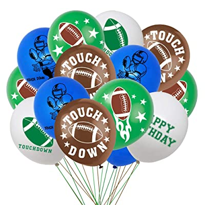 Football Theme Birthday Balloons Party Decoration Supplies, Football Super Bowl Game Day Sport Game Day Party Supplies Decoration Balloons(40PCS): Toys & Games [5Bkhe2001969]