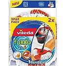 Vileda Turbo 2 In 1 EasyWring & Clean Ersatzkopf Doppelpack, 2 Stück