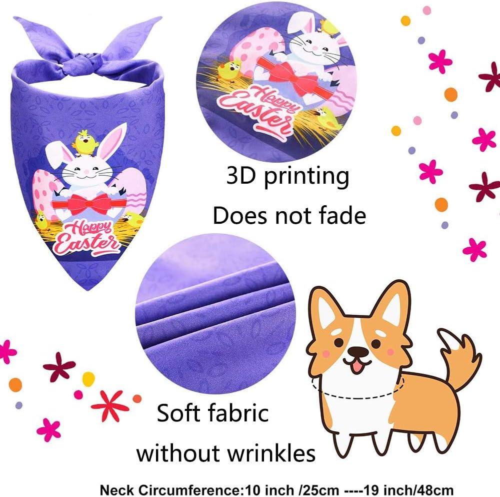 Easter Eggs 2 patterns Dog bandanas