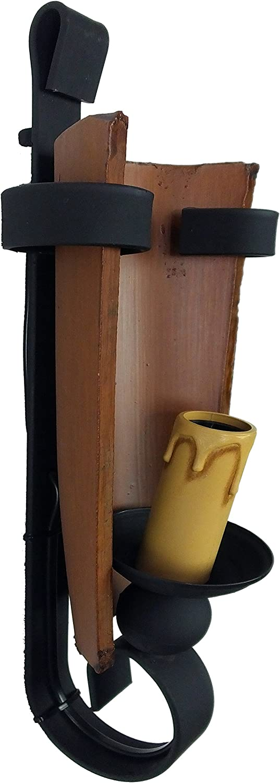 Aplique rústico de pared con forja y teja envejecido.