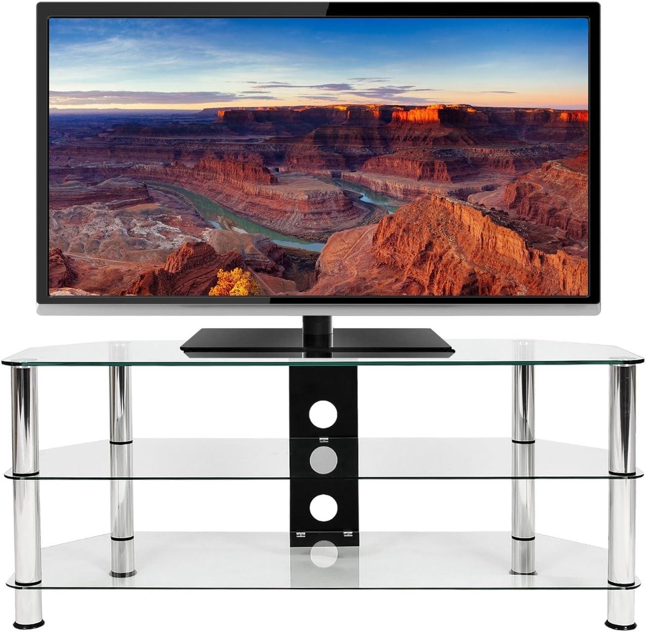 Mountright UMS4C - Soporte de Cristal para televisor de 120 cm de Largo, para la mayoría de televisores led, LCD y Plasma de 32 a 58 Pulgadas: Amazon.es: Electrónica