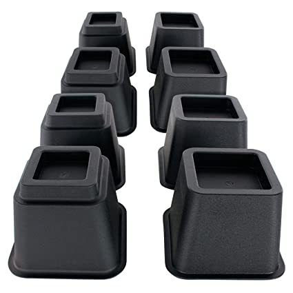 Amazon Com Vive Bed Risers 5 And 3 Inch Furniture Frame Lift