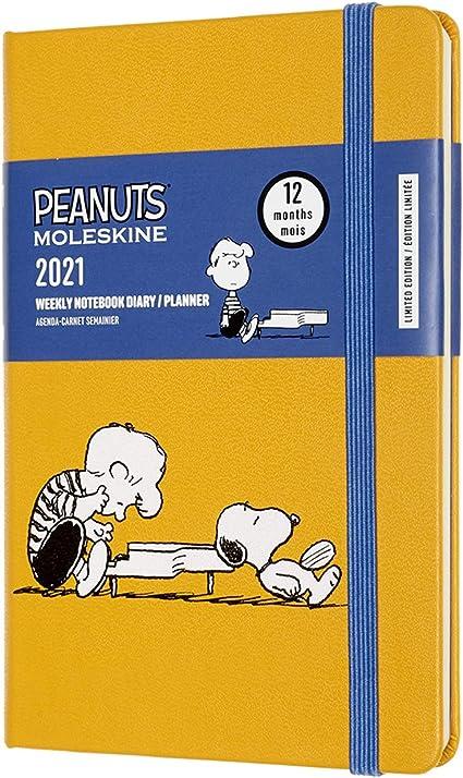 Moleskine Peanuts Tema Snoopy e Schroeder Weekly Planner Agenda Settimanale 12 Mesi 2020//2021 Formato Pocket 9 x 14 cm Edizione Limitata 144 Pagine Copertina Rigida Giallo