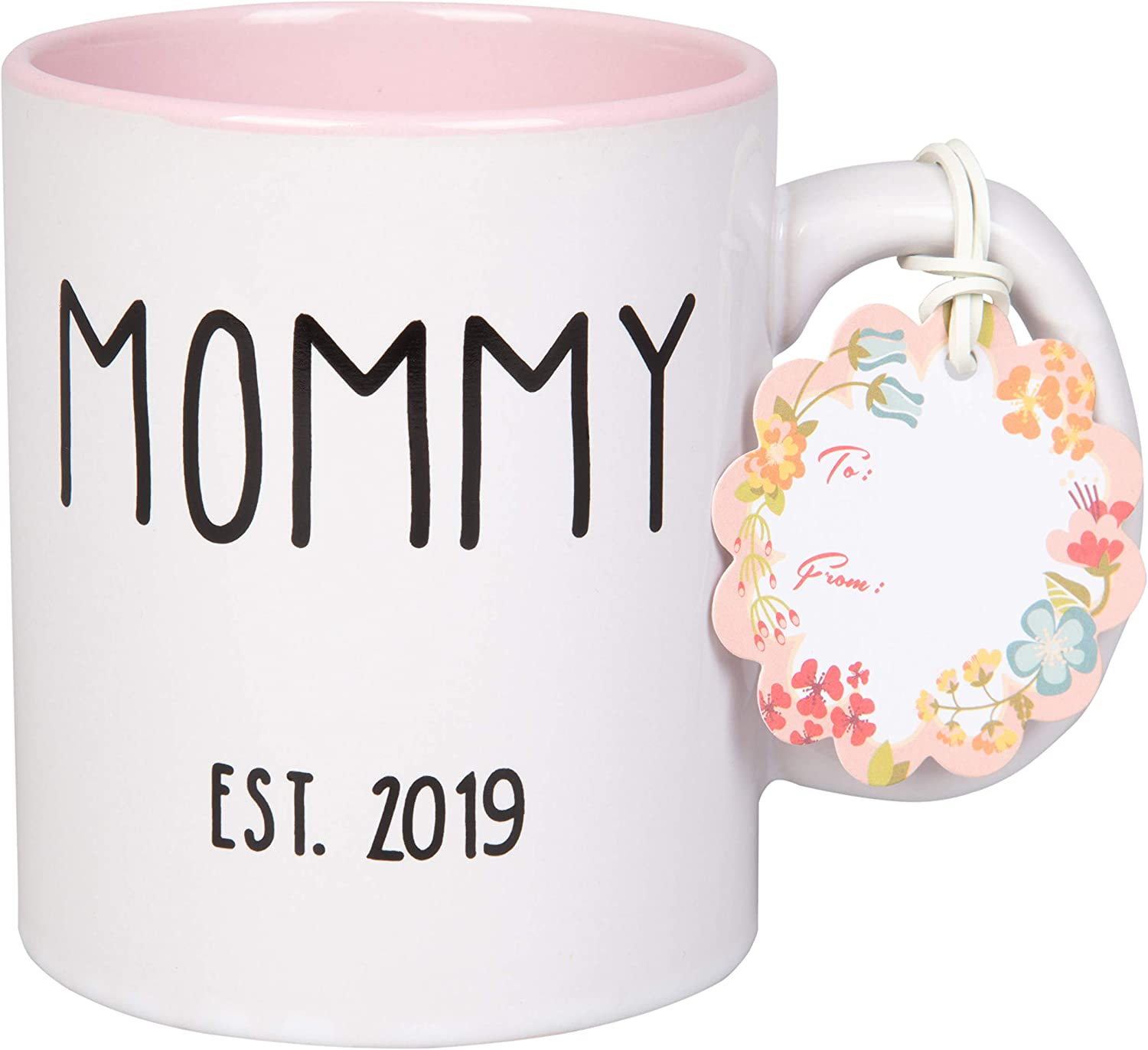 Mommy Est 2019 Coffee Mug - Pink - 15 Oz