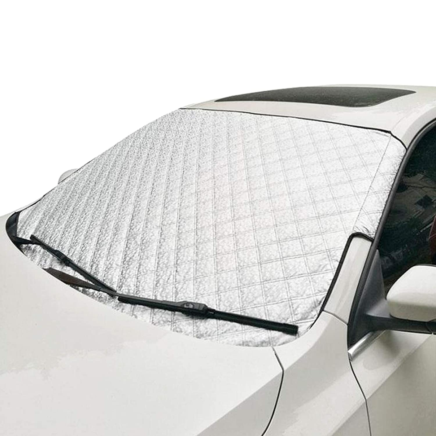 Durable /& Heavy Duty Magnetic screen cover -Windshield Ice cover- Protects against Frost Easy Installation Snow Car Windscreen Cover Dust Sun UV Perfect Size for most Cars Waterproof Ice