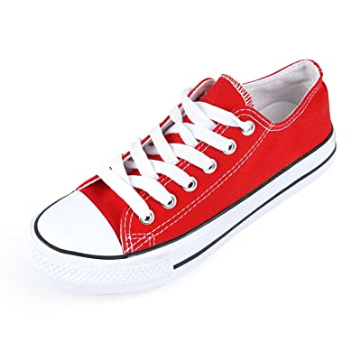 SUNJIN ACRO Unisex Canvas Low Top Sneaker Lace up Classic Casual Shoes | Fashion Sneakers