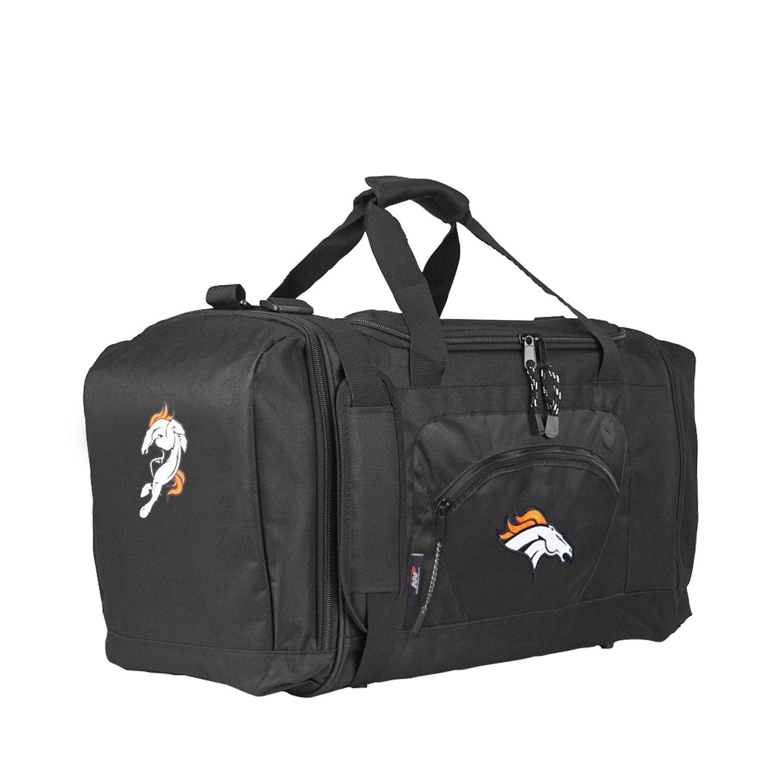 The Northwest Company Officially Licensed NFL Denver Broncos Unisex ''Roadblock'' Duffel Bag, Black