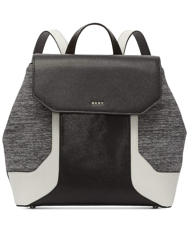 (ダナキャラン ニューヨーク) DKNY ジェイドフラップバックパック Women`s Backpack(並行輸入品) One Size ブラック/ゴールド B07PRZKR6T