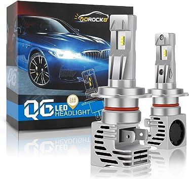 High Beam H7 LED Automotive Headlight 2 Pack Pair 8000lm Fog Light Bulb Conversion Kit